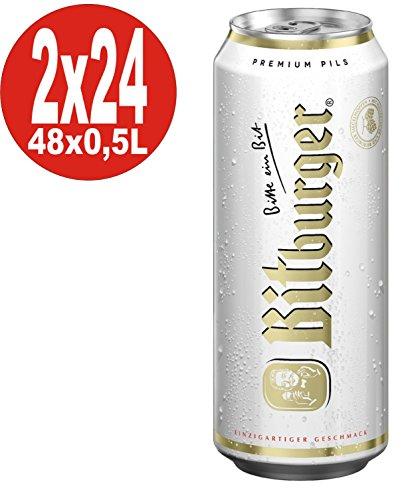 2 x Bitburger Pilsener 24x0,5L = 48 Dosen 4,8% Vol.alc. EINWEG