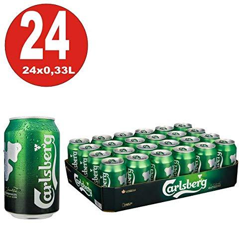 Carlsberg Bier, 24er Pack, (24 x 330 ml Dose)