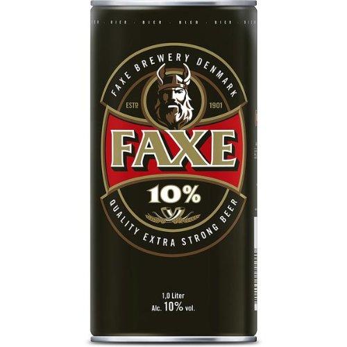 Faxe Extra Strong Beer Bier 10% vol. (6 x 1l) inkl. 1,50 € Pfand EINWEG