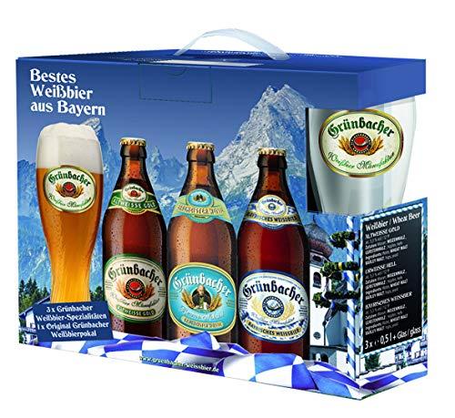 Genussleben Bier Mix 5,3% vol. (Grünbacher Weissbier m. Glas 3er)