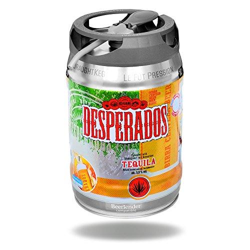 Desperados Tequila Bier mit Zapfhahn 5 Liter Partyfass 5,9% vol.