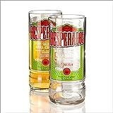 Who's Glass Desperados-Glas, recyclte Bierflasche, klarer Rand, 2Stück