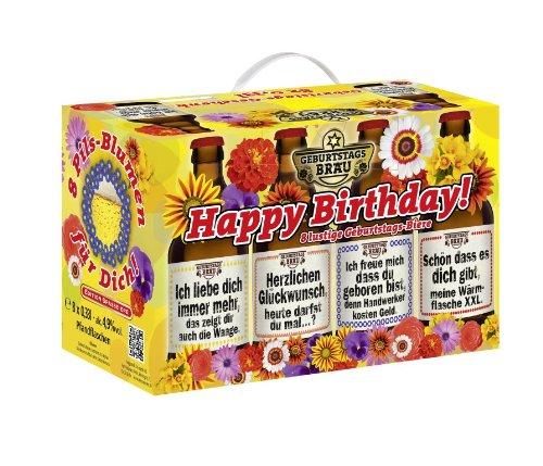 Bierundmehr Geburtstags Bier im 8er Geschenkkarton (8 x 0.33 l)