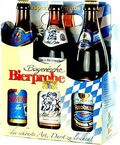 Genussleben Bier Mix 4,5% - 5,5% vol. 12x 0,5l (Bayrische Bierprobe 12er), Bierset, Biergeschenk...