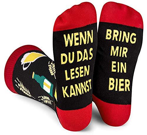 ANGOOL Bier Socken Herren,Wenn Du das Lesen Kannst bring mir Bier Socken,Geburtstagsgeschenk für...