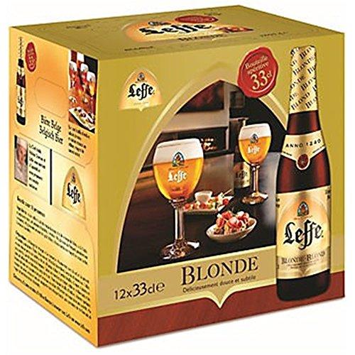 Original Belgisches Bier - Leffe Blond obergäriges Klosterbier aus Belgien, 8 Flaschen 330 ml. Ohne...