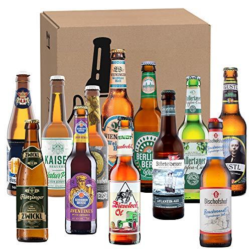 Bierset mit 12 Bieren von Privatbrauereien, Geschenk für Männer die gerne neue Biere verkosten