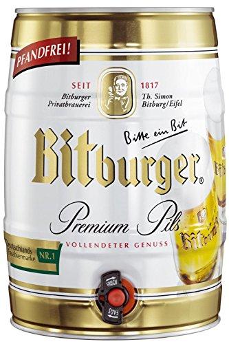 2 x Bitburger Premium Pils 5 Liter Partyfass 4,8% vol