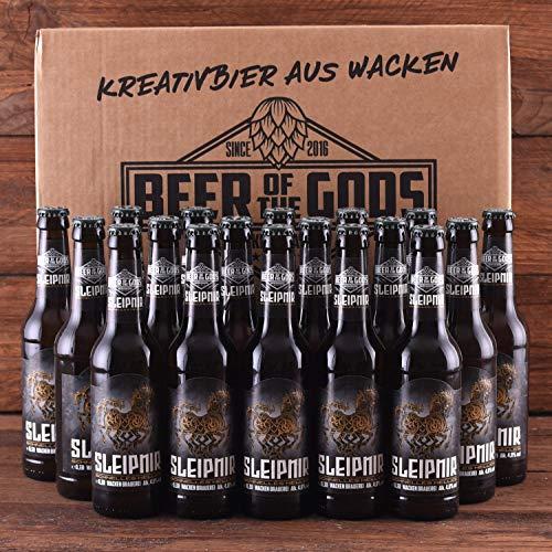 WACKEN BRAUEREI Helles Craft Beer Box 18 x 0,33 l Flasche   SLEIPNIR   Viking Craftbeer Set Gift for...