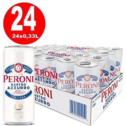 24 Dosen Peroni Nastro Azzuro Italien 0,33L 5,1% vol. alc. EINWEG