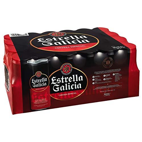 Bier Estrella Galicia 24x33cl (Pack 24 Dosen)