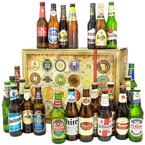 24 Biere aus aller Welt / Geschenk Papa / Geburtstagsgeschenke