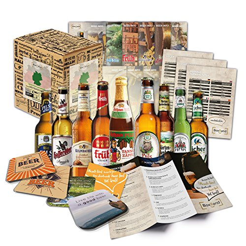 Bier Spezialitäten aus Deutschland Geschenkidee für Männer INKL Bierdeckel Geschenkkarton...