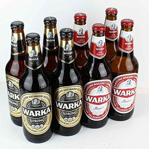 Warka - 8 x 0,5l - Probierset aus Polen - von.BierPost.com