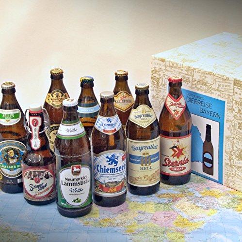 Premium Geschenkbox Biere aus Bayern + 9 klassische Biere aus Bayern + Augustinerbräu + Ayinger...