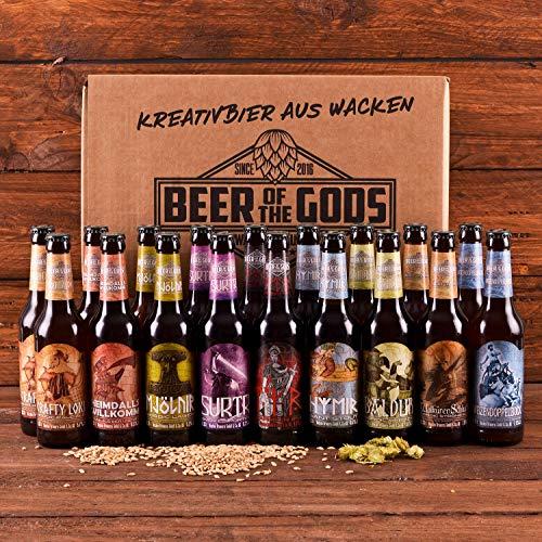 WACKEN BRAUEREI Craft Beer Box 18 x 0,33 l verschiedene Sorten | GÖTTERGABE | Viking Craftbeer Set...