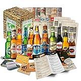 BOXILAND - Bier-Geschenk-Box mit 12 verschiedene Bier-Sorten (12 Biere x 0,33l)