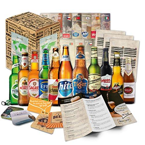 BOXILAND - Bier-Geschenk-Box mit 12 verschiedene Bier-Sorten (12 Biere x 0,33l) zum Geburtstag als...