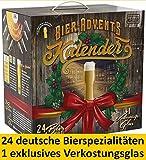 Kalea Bier-Adventskalender 2019 | 24 Deutsche Bier-Spezialitäten und 1 Verkostungsglas | 24 x 0.33...