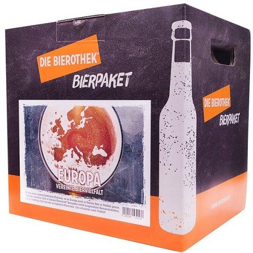Bierothek® Bierpaket Europa (12 Flaschen Bier | außergewöhnliches Geschenk)