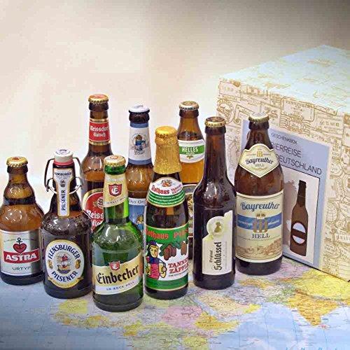 Premium Geschenkbox Biere aus Deutschland verpackt im Präsentkarton + 9 Bierspezialit‰ten aus...