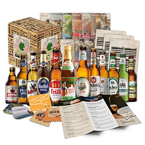 BOXILAND Bier Geschenk Set für Männer Bierspezialitäten aus Deutschland in Geschenkverpackung 12...