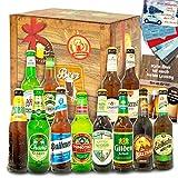 Biere der Welt + Biere Deutschland / 12 Bierflaschen/Geschenkbox mit Bier