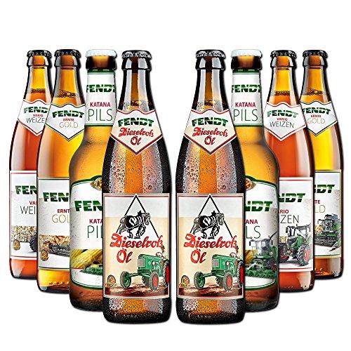 Fendt Bierpaket von BierSelect - 8 Fendt Biere in einem Paket - für Fans der Landwirtschaft,...