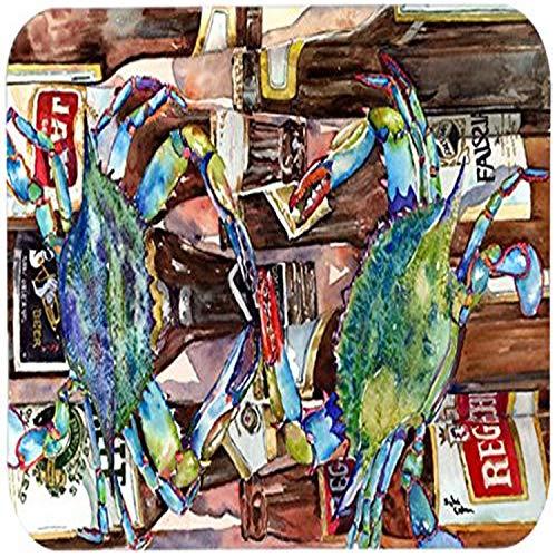 Caroline 's Treasures 8918CMT'Blau Crabby New Orleans Bier Flaschen' Küche oder Badteppich,...