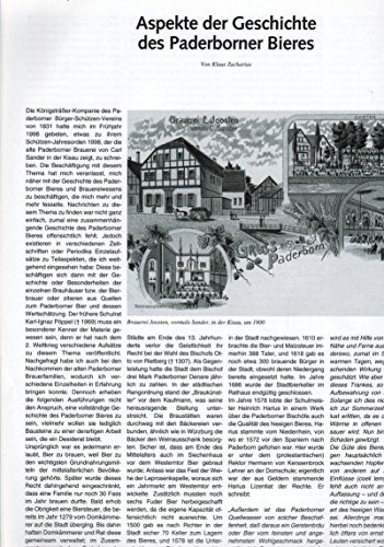 Aspekte der Geschichte des Paderborner Bier (in: Die Warte 62. Jahrgang / Nr. 110 Sommer 2001)