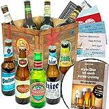 BIERE DER Welt Geschenk Box Männer + inkl Bierbuch + inkl Geschenkkarten + Bier Geschenke +...