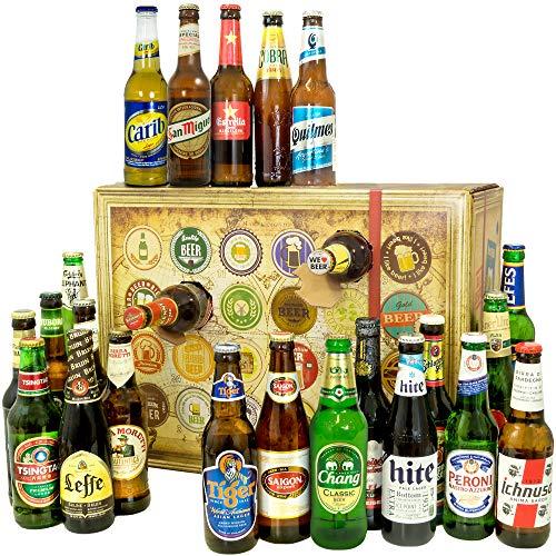 Bier Adventskalender Welt mit Tsingtao +  Saigon Export + Cobra Premium Beer + mehr /...