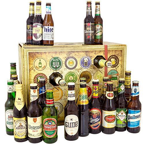 Bier Adventskalender Welt und Deutschland, MEHRWEG 24 Flaschen Bier, Geschenk mit Bieren aus aller...