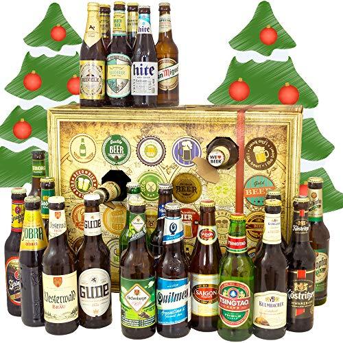 Bier Adventskalender Welt und Deutschland - mit Tiger + Saigon + Kulmbacher + mehr - Biersorten aus...