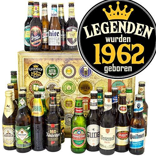 Legenden 1962-24 Biere aus aller Welt und D - 1962 Geschenk Mann/Bier Adventskalender Männer