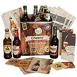 Geburtstagsgeschenk Bier Geschenkbox | inklusive Geschenkkarton Bierbroschüre Bierinfos Bierdeckel...