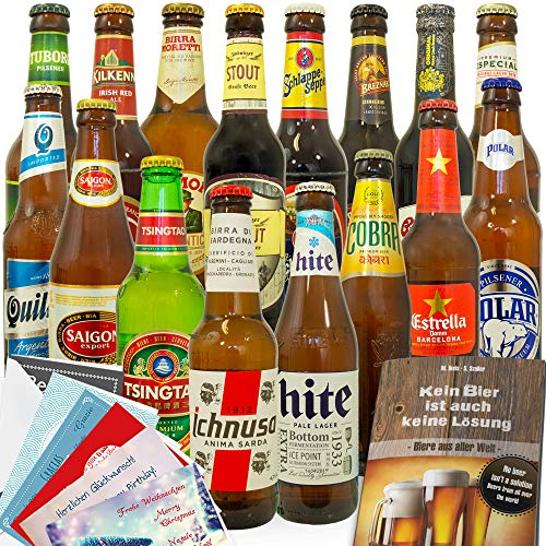 16x Bier der Welt/Bier Geschenkset/Geschenkset mit Bier