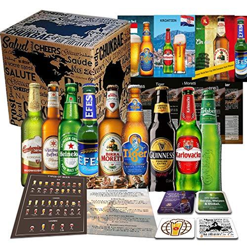 Biere der Welt 9 Flaschen Geschenk für Mann, Geburtstag +Bier Geschenk + Geschenkidee für Männer...