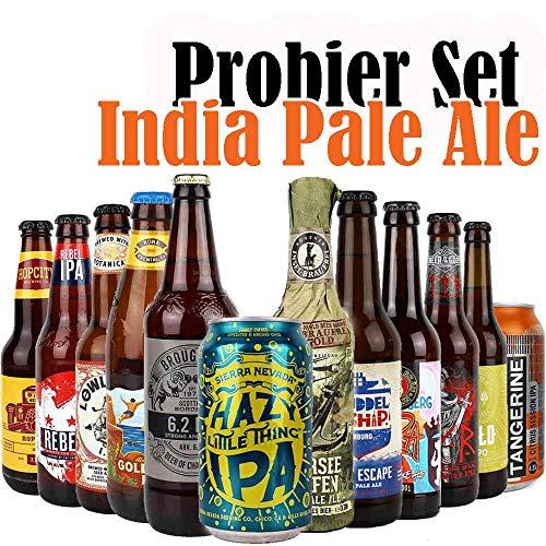 12er Craftbeer-Set - INDIA PALE ALE (IPA) - mit Verkostungstipps und Bewertungsbogen -...