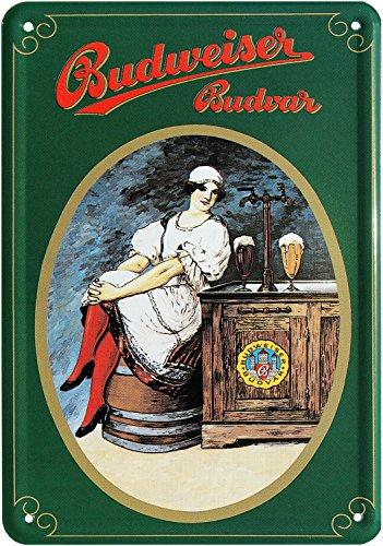 Blechpostkarte Budweiser BUDVAR Bier 10x14cm Blechkarte PKM 61
