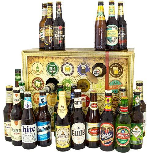 Bier Adventskalender Welt und Deutschland mit San Miguel + Saigon + Rothaus + mehr / Biersorten aus...