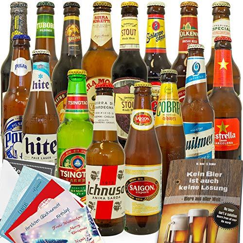 16x 'BIERE DER WELT' - 16 Flaschen - Inkl. gratis Geschenkkarten