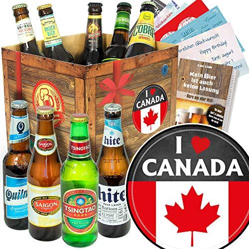 I love Canada ++ Bierbox mit Bieren der Welt ++ Kanada Geschenkbox