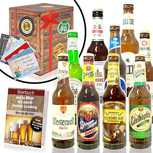 Bierset 'Die Besten Biere Deutschlands' in Geschenkverpackung (9 x 0.33 l/ 0.5 l)