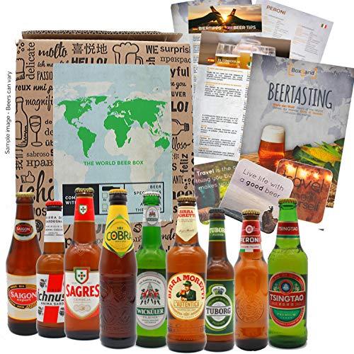 Biergeschenk als Geburtstagsgeschenk für Männer, ausgefallene Geschenkidee Bierweltreise mit 9 x...