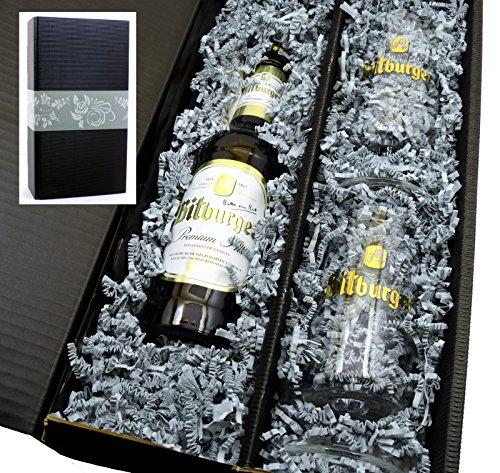 Bitburger Pils 0,33l mit 2 original Pokal Gläsern in Geschenkkarton