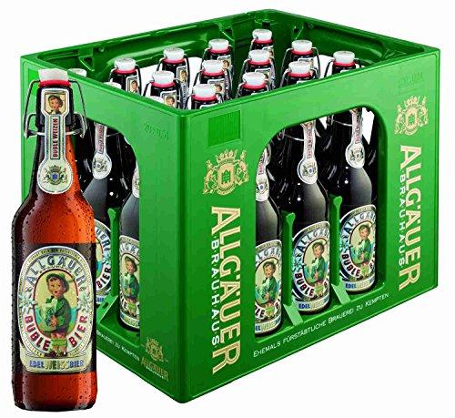 20 Flaschen Allgäuer Büble Bier Edelweißbier hell 5,3% vol. a 500ml inclusiv 3.00€ MEHRWEG...