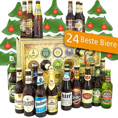 Bier Adventskalender Welt und Deutschland mit Tsingtao + Tiger + Hite Pale Lager + mehr/Geschenkidee...