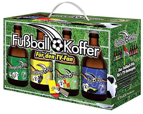 Fußball Bier Box mit 8x 0,33l Pils