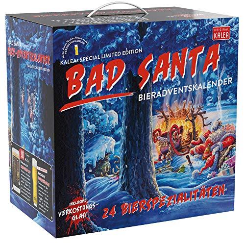 Kalea Bier-Adventskalender 2020   Edition Bad Santa   24 Deutsche Bier-Spezialitäten und 1...
